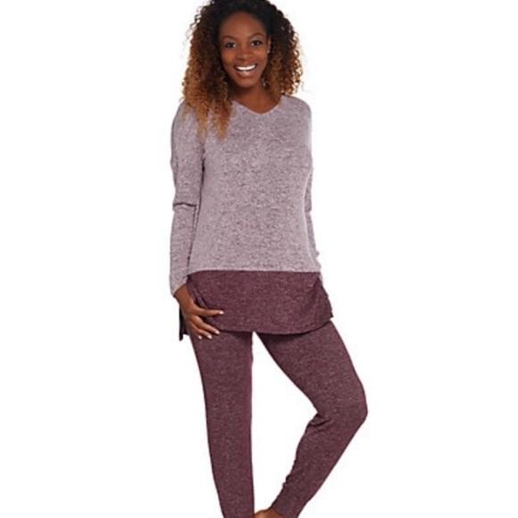 ff20e4d38d18 🆕Cuddl Duds sweater knit PJ Set (Small) Fig